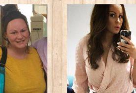 Chanelle Hayes zeigt atemberaubenden Gewichtsverlust, wie sie schlanke Figur vor und nach Bildern prangt