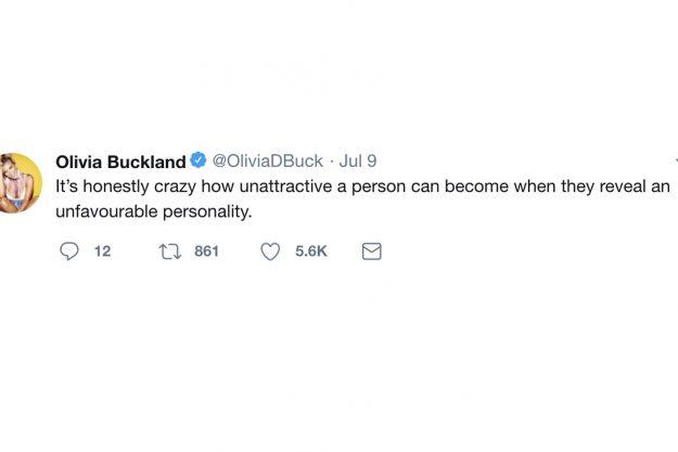 "Caroline ""mochte"" Olivia Bucklands Tweet"