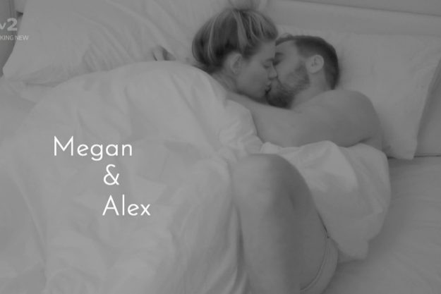 Love Island: Megan und Alex küssten sich im Bett, was von Wes gehört wurde