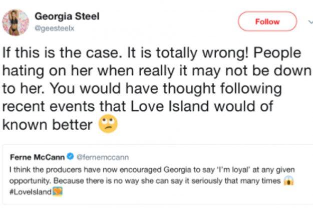 Georgias Familie schlägt bei Ferne McCann auf Twitter zurück