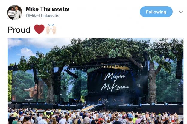 Mike twitterte von seinem Stolz auf Megan