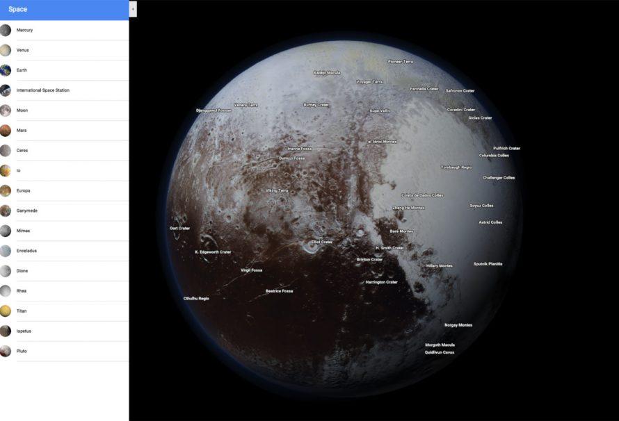 Sie können jetzt das Sonnensystem mit Google Maps erkunden