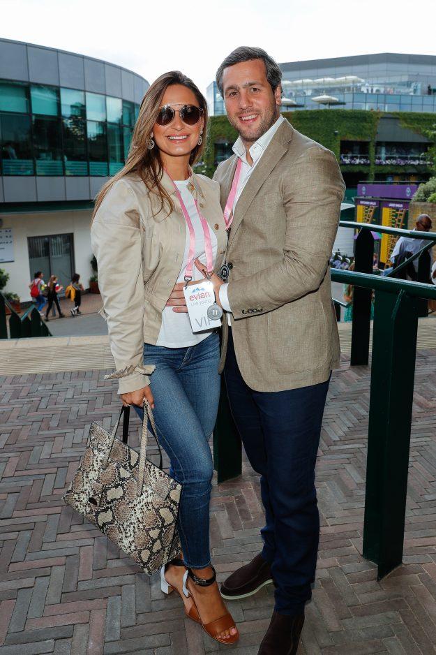 Sam Faiers und Paul Knightley besuchen Wimbledon