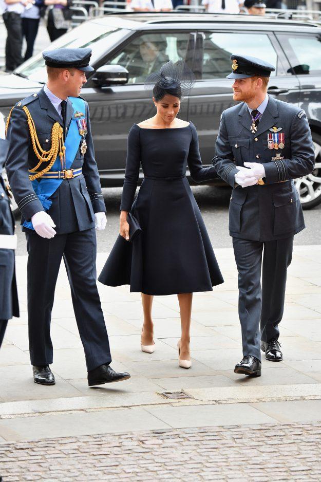 Prinz William, Herzog von Cambridge, Meghan, Herzogin von Sussex und Prinz Harry, Herzog von Sussex nahmen an einer Veranstaltung zum 100. Jahrestag der RAF teil