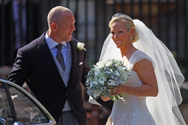 Mike Tindall und Zara Phillips bei ihrer Hochzeit im Jahr 2011