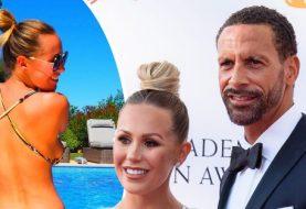 Kate Wright zeigt Killerkurven in winzigen String-Bikinis, während sie Rio Ferdinand in Russland reizt