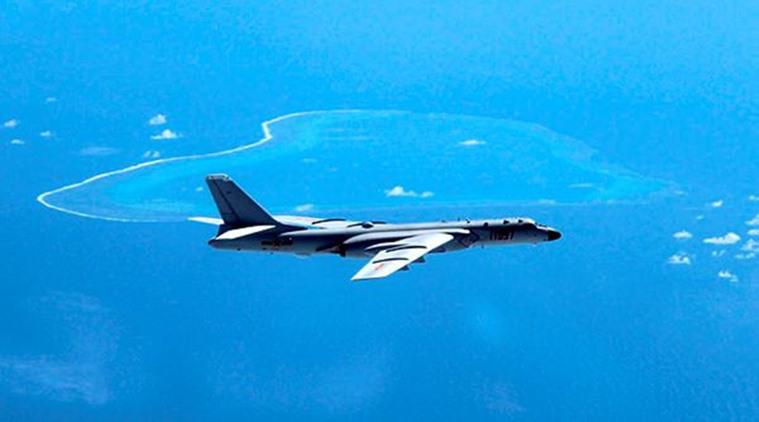 China landet zum ersten Mal auf der Südchinesischen Insel