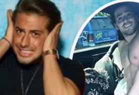 Love Islands Kem Cetinay ist komplett in einem Auto zurückgefallen, als Chris Hughes sein lustiges Video online mit ihm teilt