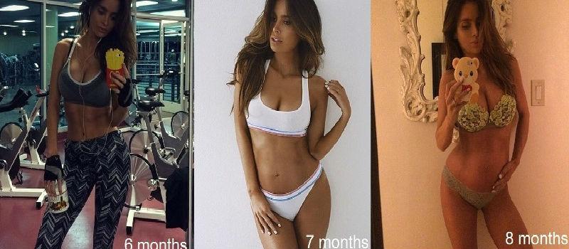 Du wirst es nicht glauben, aber diese Frau ist 8 Monate schwanger